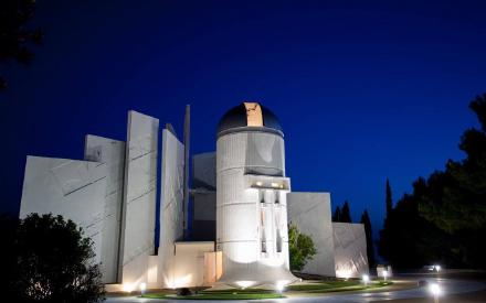 Outdoor view of the Makarska Observatory built by Ash-Dome