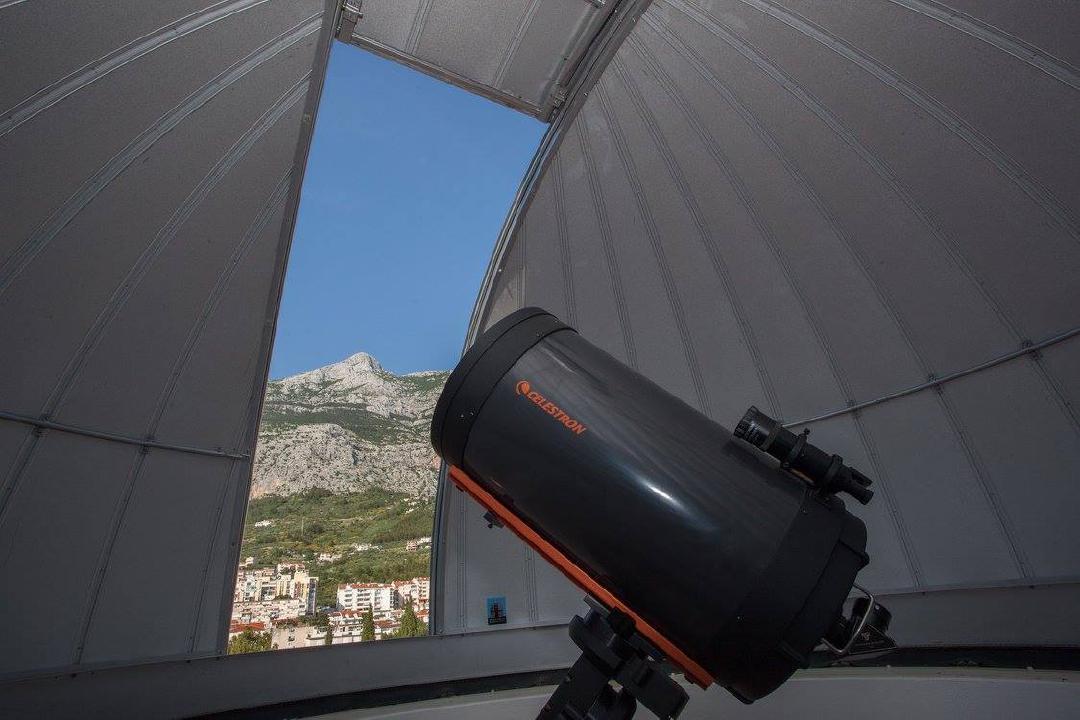 Indoor view of the Makarska Observatory Celestron telescope.