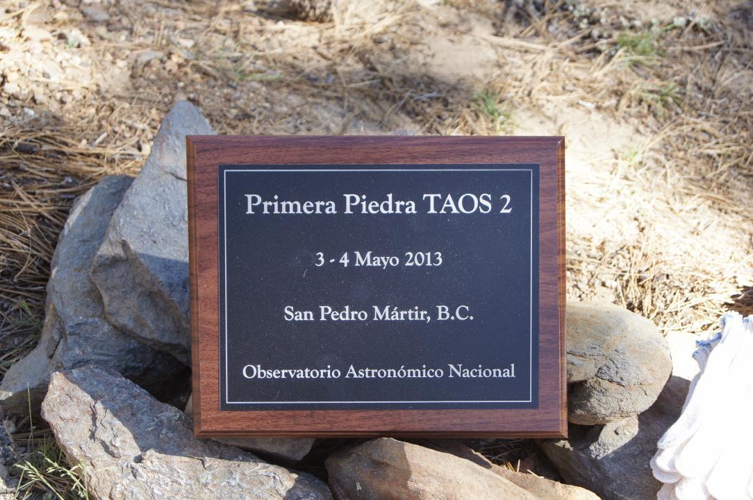 Plaque commemorating TAOS-II