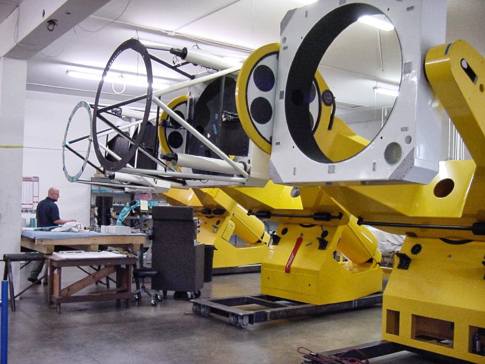 Three telescopes under construction
