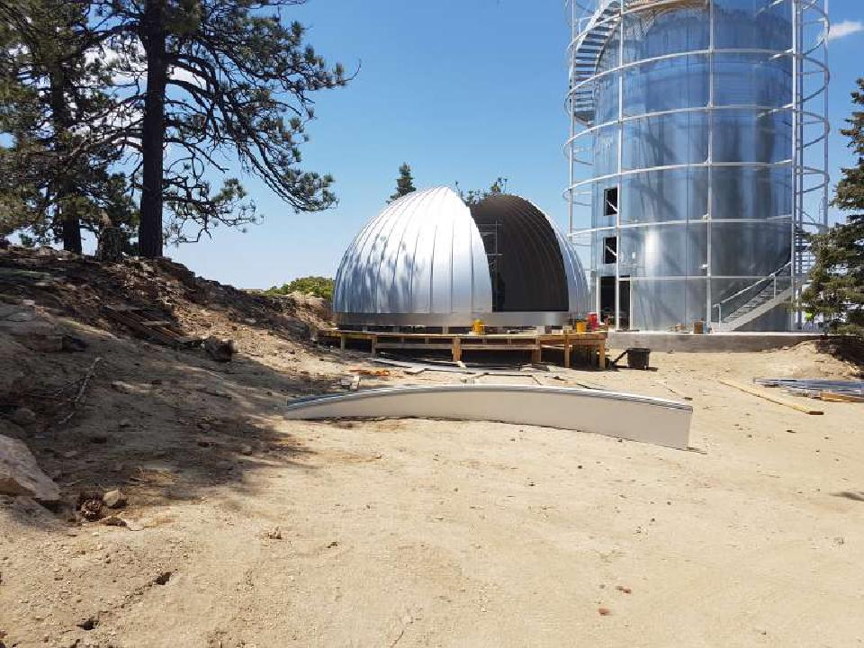 The Ash-Dome for TAOS-II on the ground waiting to be installed.