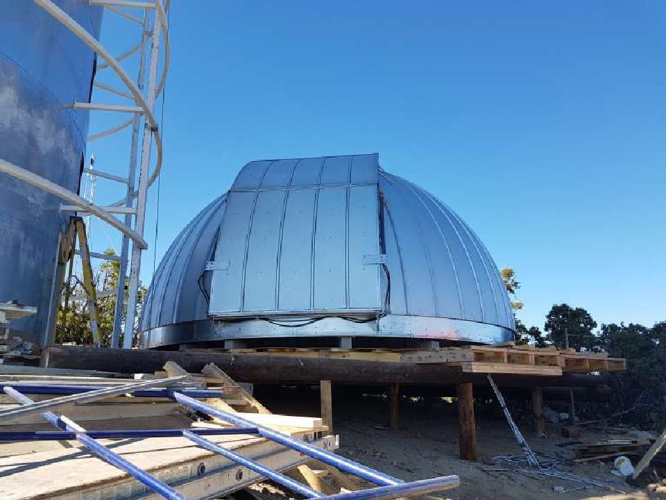 The TAOS-II Ash-Dome door installed