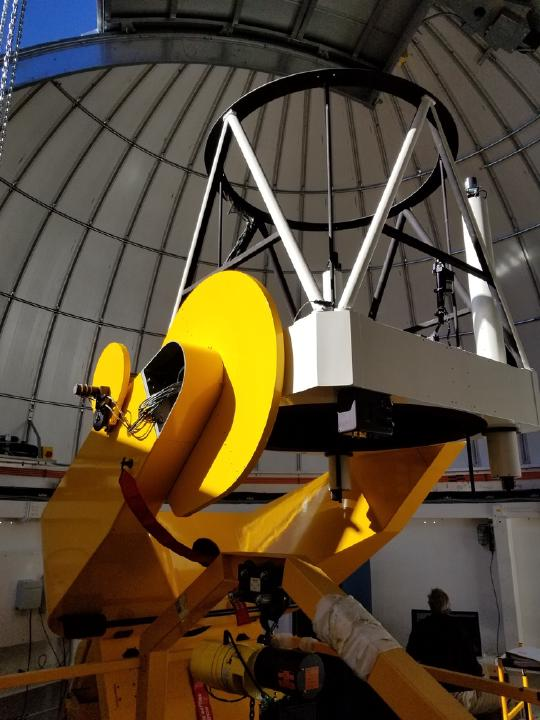 The telescope installed inside of TAOS-II